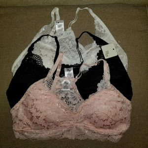 Olive Street Lace Bralette 3pk Size Small NWT